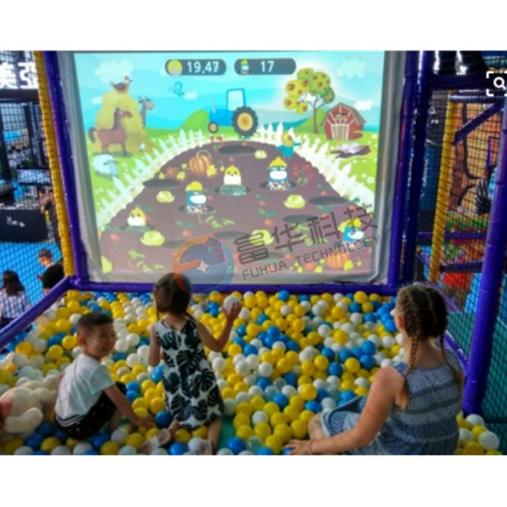 虚拟屏幕互动砸球 亲子乐园益智游戏
